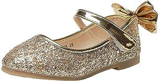 WUIWUIYU Fille Chaussures Ballerine avec Paillettes Brillants Respirable Comfortable