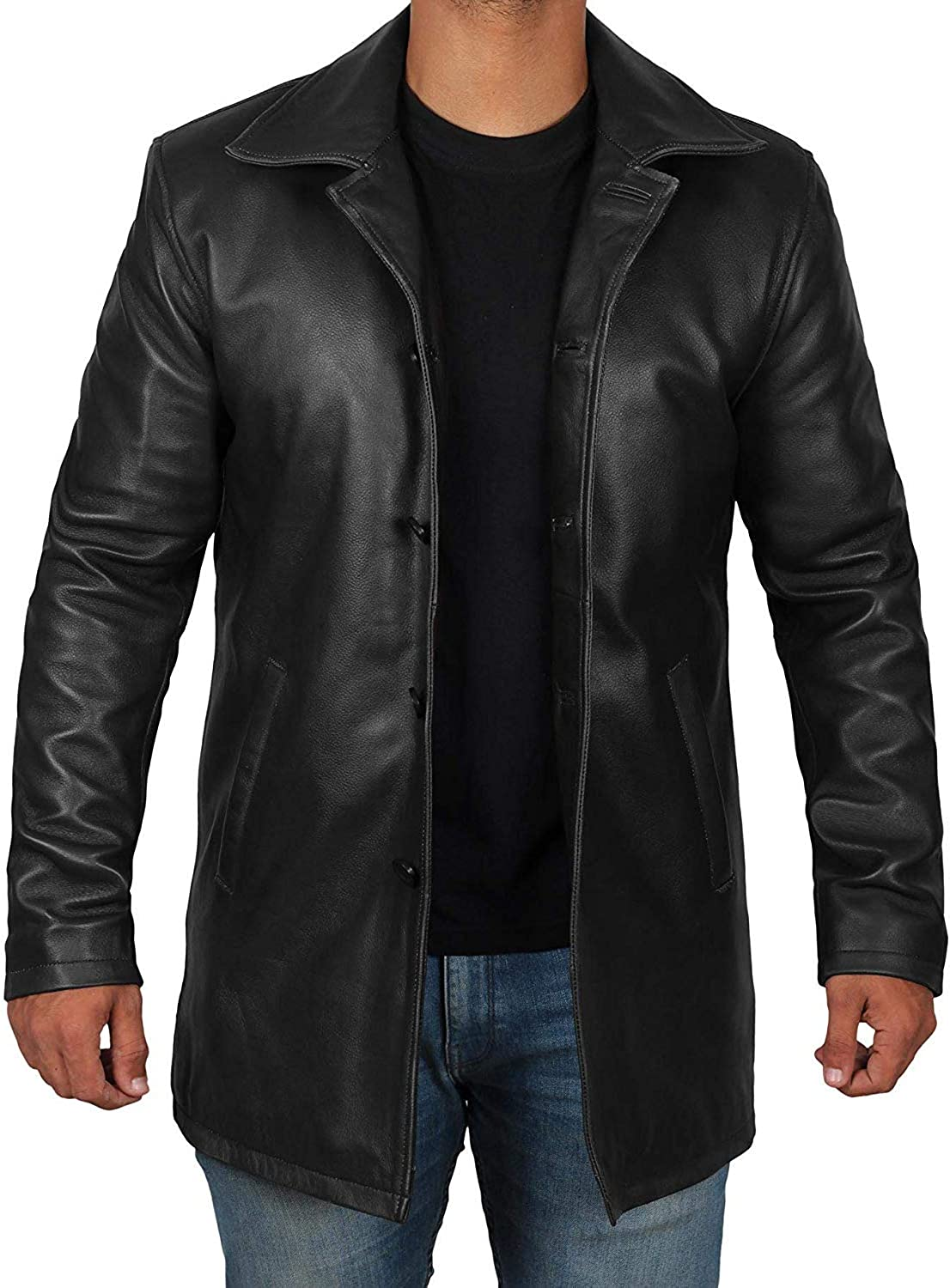 Brown Leather Jacket Men half Selling and selling - fo Natural Jackets Distressed