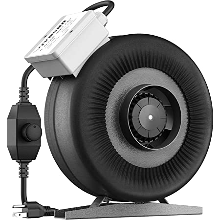 """VIVOSUN  4/"""" 190 CFM Inline Duct Fan with Variable Speed Controller HVAC Blower"""