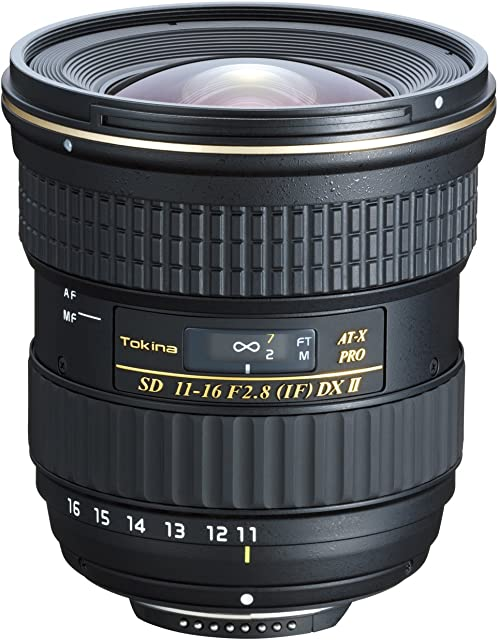 Tokina 11-16 mm AT-X Pro DX II - Objetivo para Nikon (11-16mm f/2.8 84 mm) Color Negro