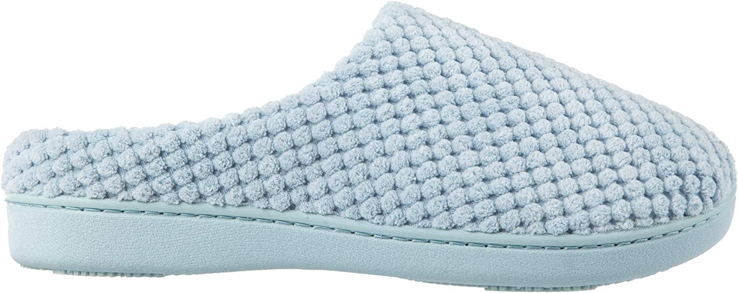 Isotoner Women's Textured Micrederry Low Back Slippers