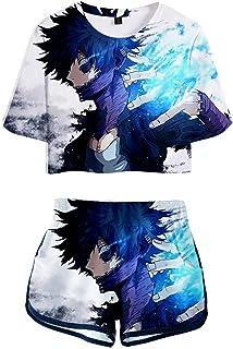 My Hero Academia 3D Prined Pajama Set Anime Shoto Todoroki Hero, 2 pezzi Activewear Set Boku no Hero Bakugou Casual Summer...