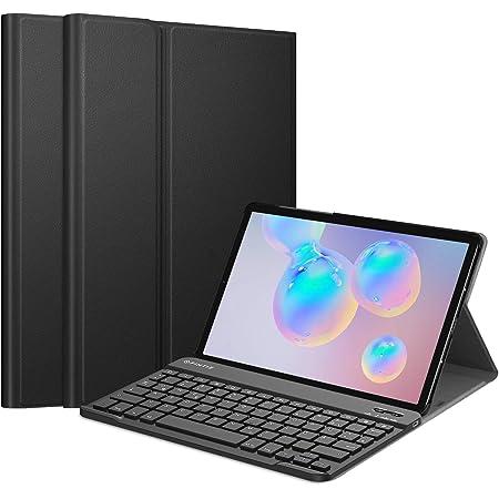 Fintie Funda con teclado para Samsung Galaxy Tab S6 10.5 2019 (compatible con función de carga inalámbrica S Pen) – Funda ultrafina con teclado alemán ...