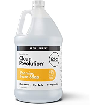 Clean Revolution Foaming Hand Soap Refill Supply Container. Ready to Use Formula. Dreamy Citrus Fragrance, 128 Fl. Oz