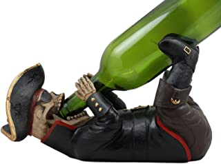 Ebros Scallywag Swiller Captain Sparrow Pirate Skeleton Wine Holder Statue 11
