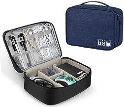 Ducomi Elektronische accessoiretas, organizer voor kabels met elastieken, elektronische lader, universele USB-organizer, m...