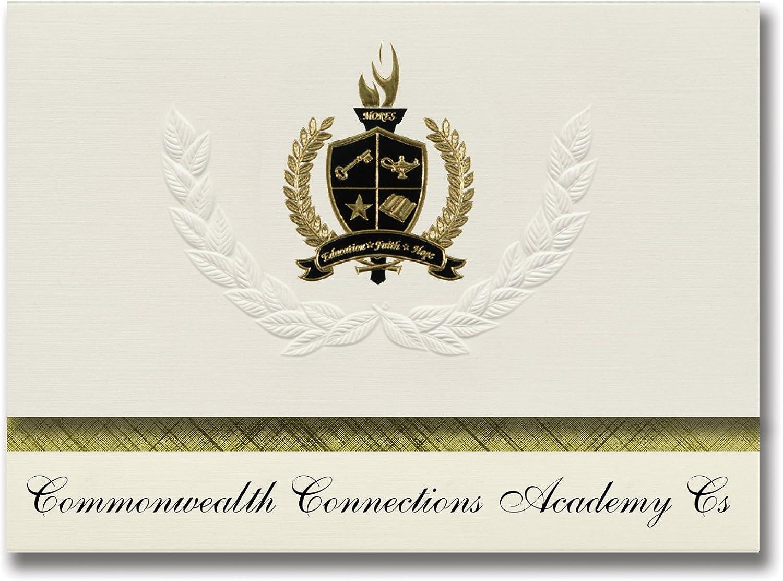 Signature Ankündigungen Commonwealth Anschlüsse Academy CS (Harrisburg (, PA) PA) PA) Graduation Ankündigungen, Presidential Elite Pack 25 mit Gold & Schwarz Metallic Folie Dichtung B078VCVW92   | Deutschland Online Shop  55f6bb