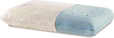 The White Willow Memory Foam Cooling Gel Orthopedic Bed Pillow for Sleeping & Neck Pain Relief Suitable for Back Sleeper,