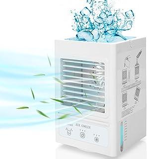 Fitfirst Climatiseur Mobile Silencieux avec 5000mAh Batterie Rechargeable, Mini-Refroidisseur d'Air Personnel à Oscillatio...