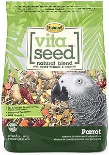 Higgins Vita Seed Natural Parrot Food 3 LB Bag. Fast Delivery by Just Jak's Pet Market