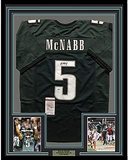 Autographed Donovan McNabb Jersey - FRAMED 33x42 Green COA - JSA Certified - Autographed NFL Jerseys