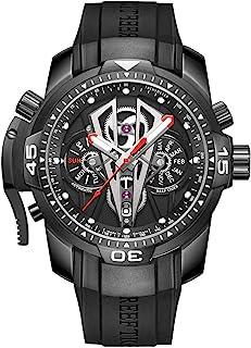ساعت مچی مکانیکی اسپرت مردانه ریف با ساعت مچی رز طلای سیاه و سفید بند لاستیکی بند لاستیکی RGA3591