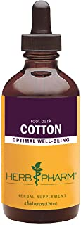 Herb Pharm Certified Organic Cotton Root Liquid Extract - 4 Ounce