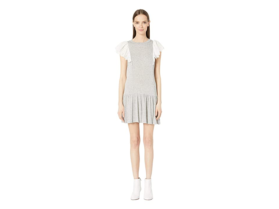 Rebecca Taylor Livy Eyelet Jersey Dress (Grey) Women
