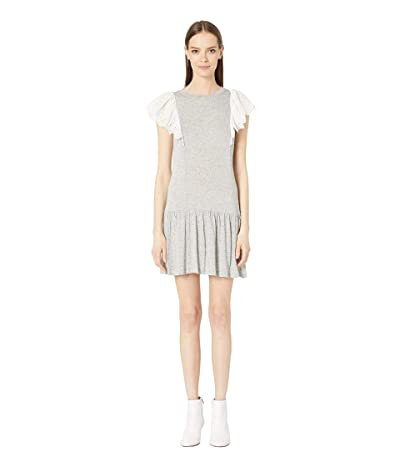 Rebecca Taylor Livy Eyelet Jersey Dress (Grey) Women