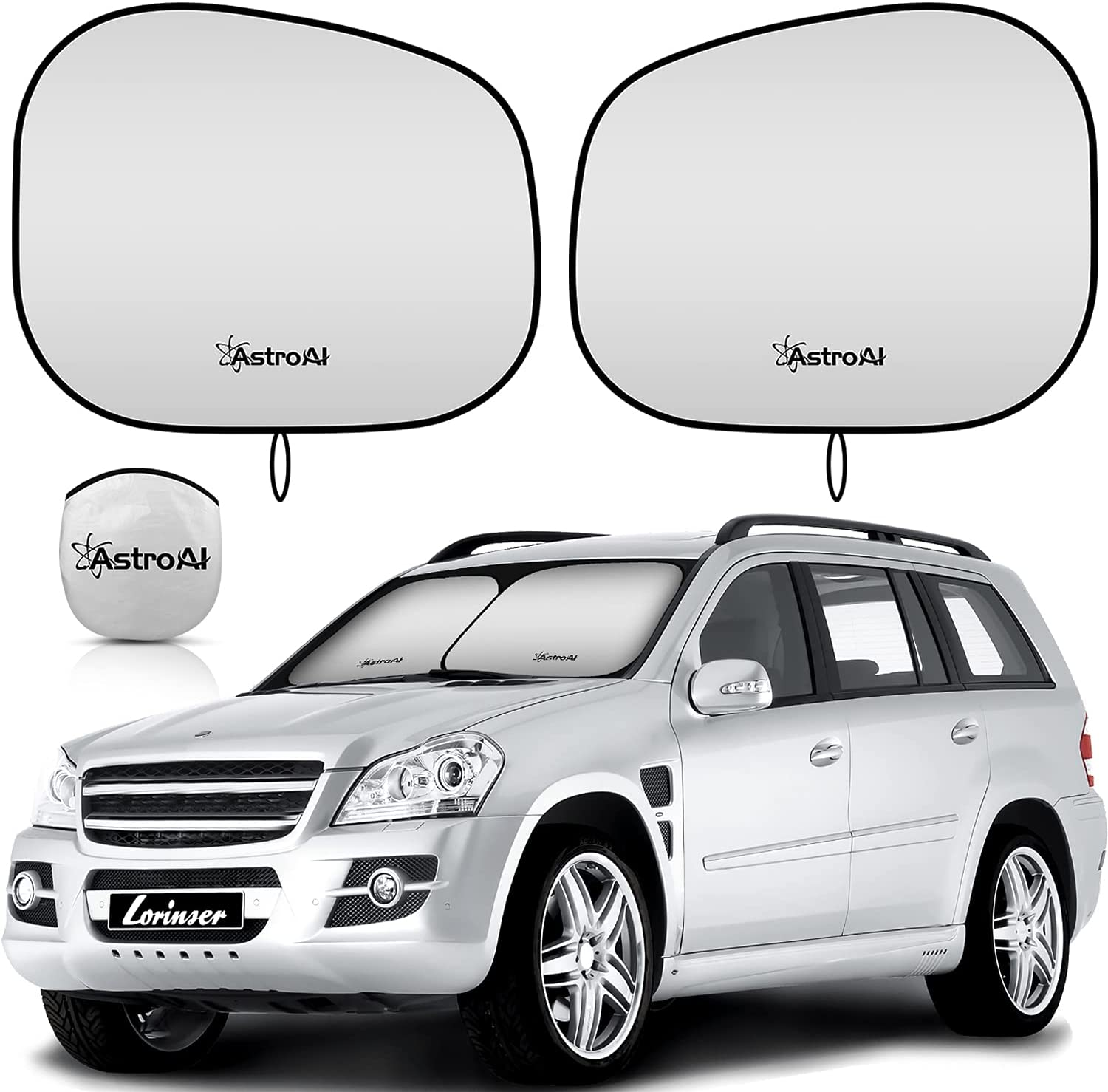 AstroAI Car Sun Shade for Max 70% OFF 1 year warranty Foldable Windshield Front Piece -2