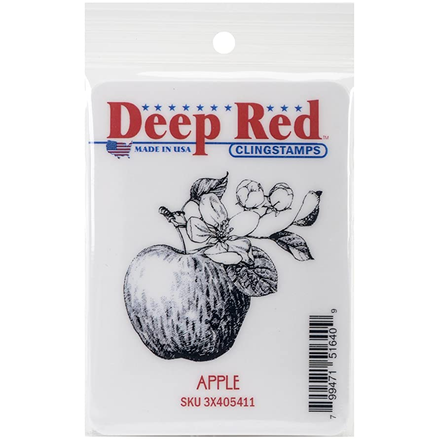 Deep Red Stamps Apple Cling Stamp, 2