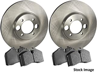 2014 For Ford Explorer Rear Anti Rust Coated Disc Brake Rotors and Ceramic Brake Pads Note: w//HD Brakes Stirling