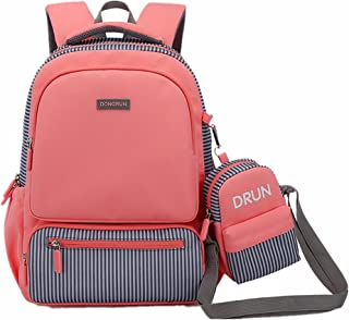 Primary School Backpack Ideal for 1-6 Grade School Students Boys Girls Daily Use and Outdoor Activities (Flesh Pink)