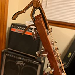 WINGO Guitar Capo for Acoustic and Electric Guitar with 5 Picks Burlywood
