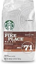 Starbucks Pike Place Roast Medium Roast Coffee, Ground, 20 Ounce (Pack of 1) bag