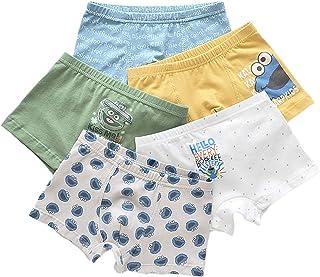 Pantalones para Niño, Calzoncillos Tipo Bóxer, Ropa Interior De Algodón De 5 Piezas, Ropa Interior De Algodón Talla 3-16, ...
