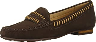 Driver Club USA Women's Leather Made in Brazil Maple Ave Loafer, Brown Suede, 7.5 M US