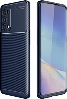 Soosos Case for OPPO Reno5 Pro Case Carbon Fiber Ultra thin TPU Soft Silicone Shockproof Anti-fall Cell phone Protective c...