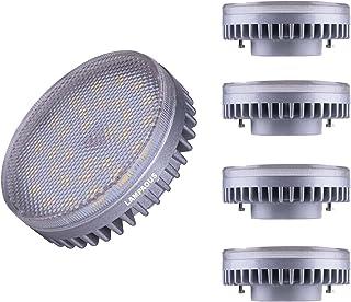 Lampaous Bombilla LED GX53 de 8 W, repuesto para bombillas incandescentes de 60 W, 6000 K, luz blanca fría, 640 lúmenes, b...