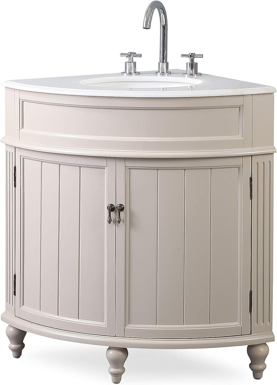 Buy 24 Thomasville Taupe Modern Slim Corner Bathroom Sink Vanity Zk 47599tp Online In Indonesia B07hnbvhy7