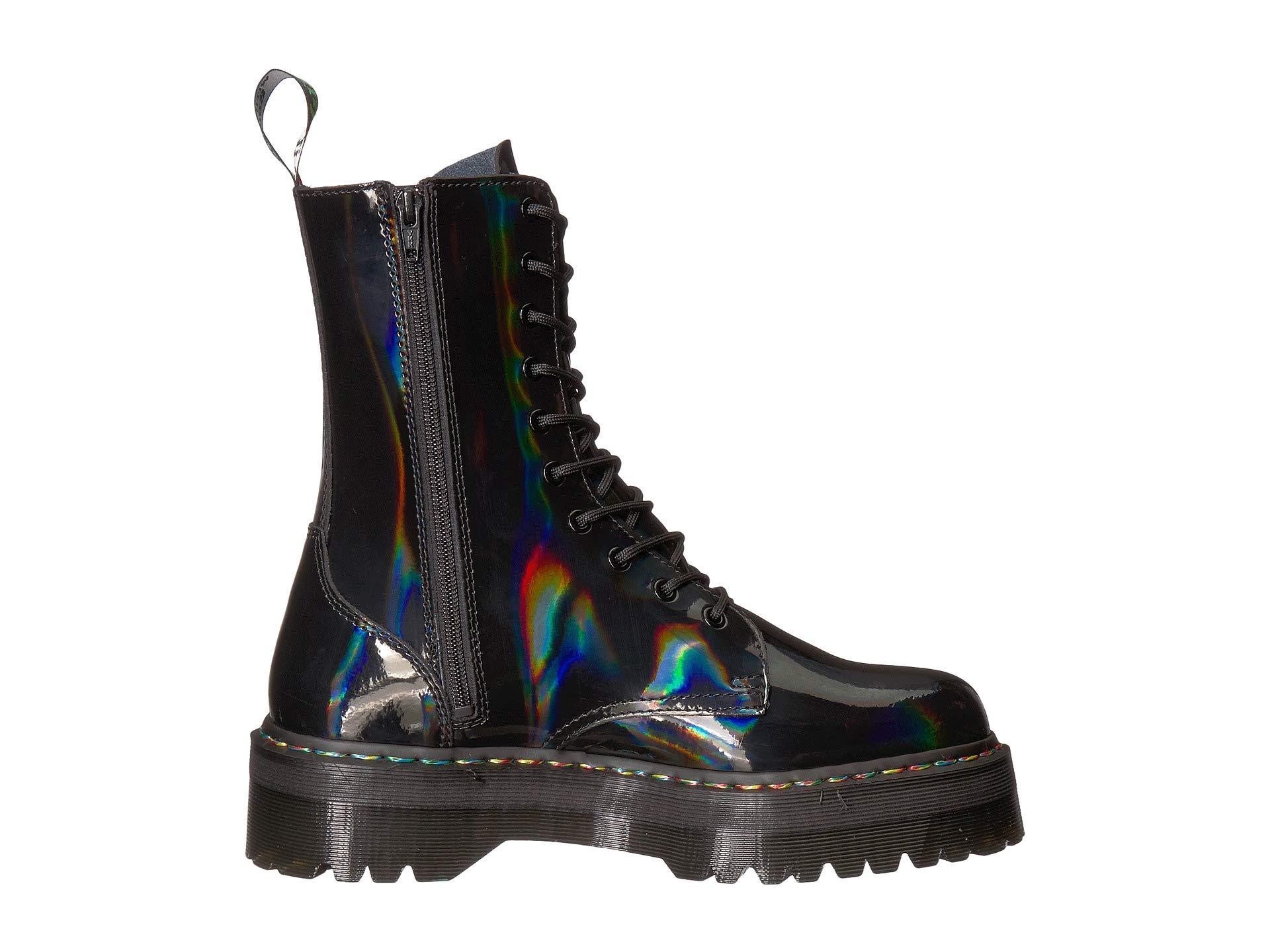Dr Black Martens Hi Rainbow Patent Jadon SSqrXP
