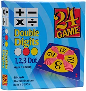 24 Game: 48 Card Deck, Double Digit Cards Math Game - Includes Exclusive Tips Sheet - Master Math Skills