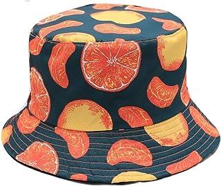 دلو القبعات دلو قبعة الرجال النساء الصيف دلو قبعة البرتقال طباعة قبعة الهيب هوب gorros الصيد صياد قبعة Seupeak