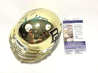 Shawn Oakman Signed Baylor Bears Gold Chrome Mini Helmet Coa - JSA Certified - Autographed College Mini Helmets