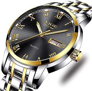 Watches,Mens Full Stainless Steel Luminous Quartz Watch Fashion Casual Business Dress Wristwatch Waterproof 30M Water …