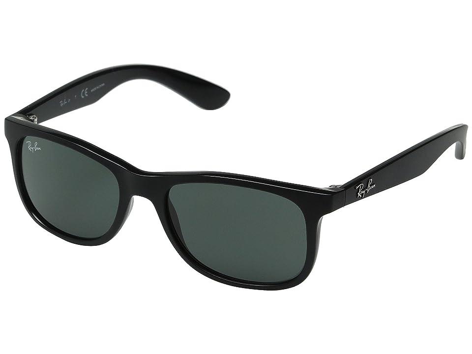Ray-Ban Junior RJ9062S 48mm (Youth) (Matte Black/Dark Green) Fashion Sunglasses