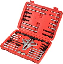 A ABIGAIL Harmonic Balancer Puller 46 Pcs Tool Kit – Flywheel Puller, Crankshaft Pulley Removal, Steering Wheel Pulling Set Pulley Yoke Crank