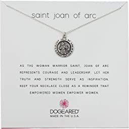 Saint Joan Of Arc, Saint Coin Charm Necklace