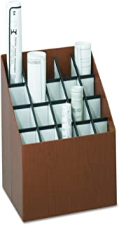 Safco Products Vertical Roll File, 20 Compartment, Walnut
