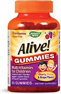 Nature's Way Alive! Children's Gummy Multivitamin, Fruit and Veggie Blend (100mg per serving), Gluten Free, made with Pect...