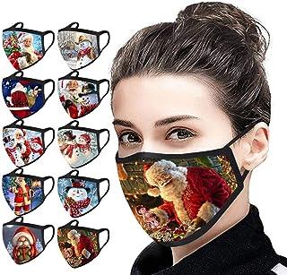 LANWINY Adult Mundschutz waschbar Cute Christmas Printing Bandana atmungsaktives multifunktionales Tuch M/änner Frauen Mund und Nasenschutz staubdicht Verstellbares Halstuch