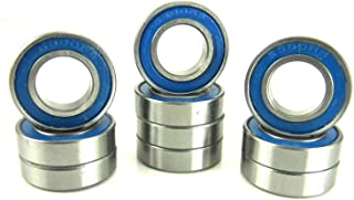 10x19x5mm Precision Ball Bearings ABEC 3 Rubber Sealed Blue (10) 6800-2RS