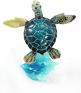 unison gifts YXF-169 5 INCH Blue SEA Turtle ON Wave, Multicolor