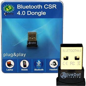 ARSUTE Mini USB Bluetooth Adapter CSR Dual Mode Wireless Bluetooth V4.0 EDR Dongle USB Transmitter For Windows 7 8 10 PC Laptop Black