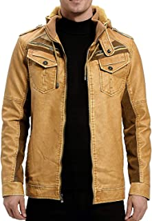 Leather Jacket With Leather Hood