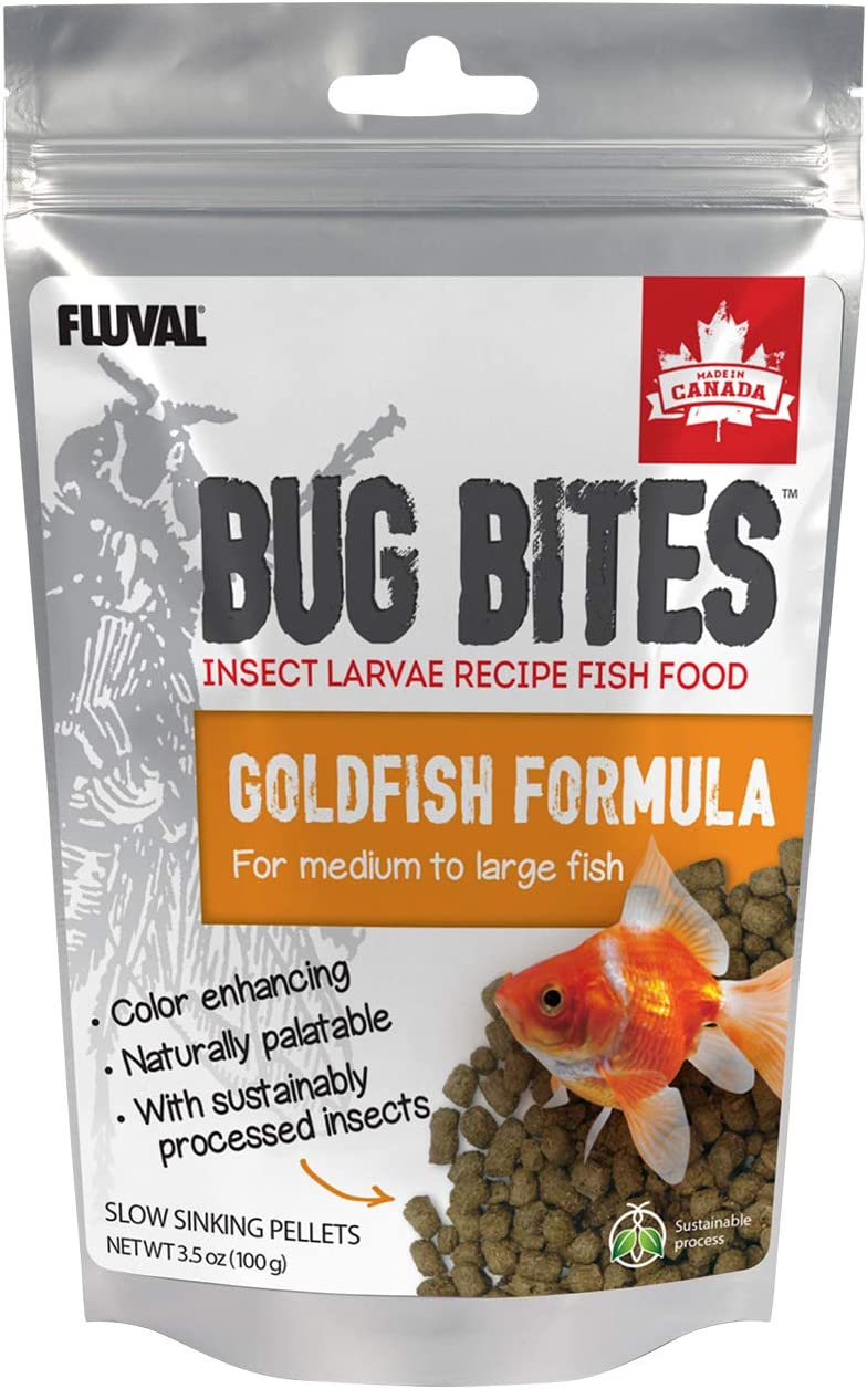Fluval Bug Bites Goldfish Fish Food, Granules for Small to Medium Sized Fish