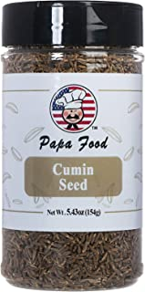 Papa Food All Natural Premium CuminSeed, 5.64 ounces(1 Bottle)