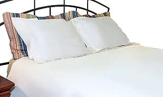 Whisper Organics 100% Organic Cotton Duvet Cover, 500 Thread Count - GOTS Certified (King/California King, White)