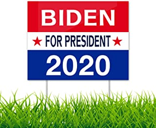 """Joe Biden for President 2020 Political Campaign (13.75"""" x 11"""") 2020 Democratic Party Election Campaign Rally Yard Sign"""
