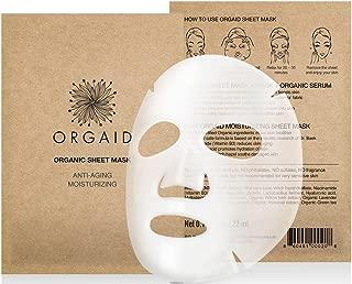 ORGAID Anti-aging & Moisturizing Organic Sheet Mask | Made in USA (Single)
